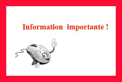 Information importante 3